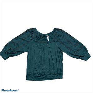 Anthropologie Crop Top Green Size XS New